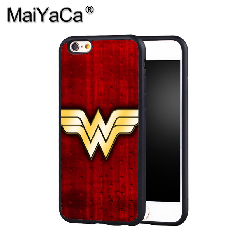 Maiyaca Прохладный Wonder Woman костюм DC Телефон чехол для iPhone X 8 6 6 S плюс 7 7 Plus 5 5S 5C 4S SE Mobie мягкий резиновый Чехол