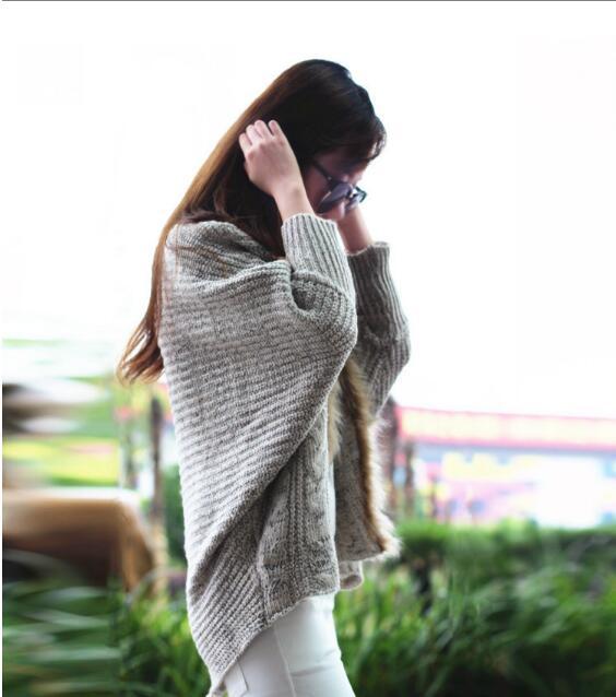 Automne Fourrure Chaud En Col Chauve Longues Mode Tricoté Femmes Chandail Manches Avec Pulls Gilets Hiver souris Fausse n4w0xqCF