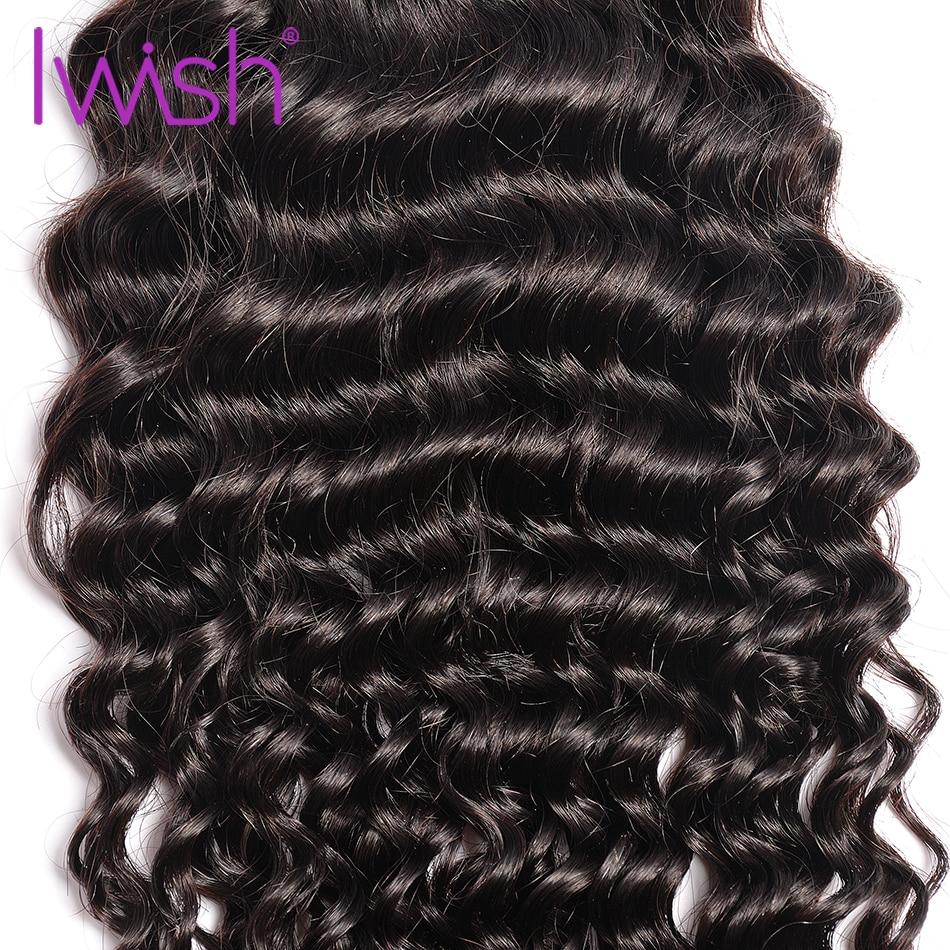 Iwish Hair Brazilian Curly Hair Weave Bundles Human Hair 1/3/4 Piece 10-28inch Non Remy Brazilian Hair Weave Bundles Natural