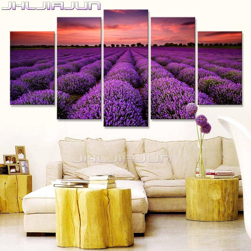 Lavendel HD druck ölgemälde Provence dekoration Nordischen stil 5 ...