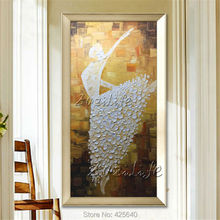 Oil painting On Canvas Ballet Dancer Wall Pictures Large Abstract Wall Art Palette Knife Hand Painted Cuadros Home Decoracion 1