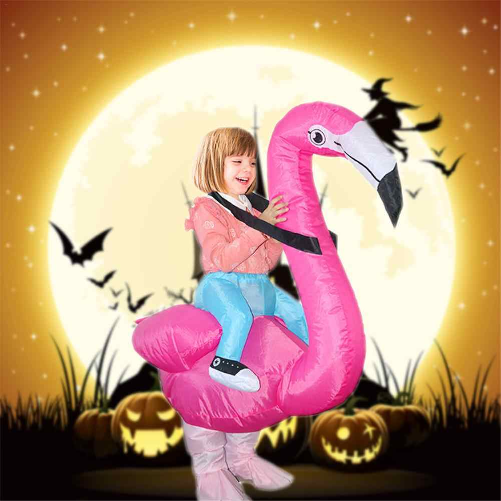 d42373c5f1fa ... Flamingo Inflatable Costume Adult Kids Cosplay Innovative Toy Suits Animal  Fancy Dress Halloween Carnival Party Clothing ...