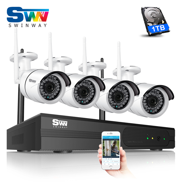 Special Offer Plug and Play 4CH 960P HD Wireless CCTV Camera Kit 1.3 ...