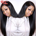RXY Straight Lace Front Wig Glueless Lace Front Human Hair Wigs For Black Women 13X6 Brazilian Lace Wigs With Baby Hair Remy
