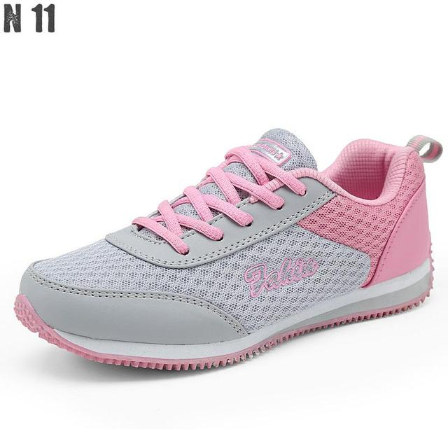2017 Nuevo Zapato de Las Mujeres de Verano de Malla Transpirable Zapatillas Zapatos De Las Mujeres de Red Suave Zapatos Casuales Pisos Salvajes Ocasionales