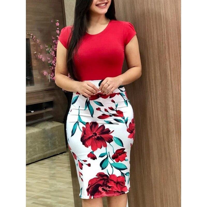 0f6b525f5 Comprar Verano Mujeres Elegantes Vestido Moda Casual Sexy O Cuello ...