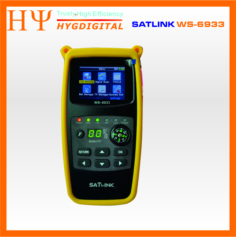 Original Satlink WS-6933 2.1 Inch LCD Display DVB-S2 FTA C&KU Band 6933 WS6933 Digital Satellite Finder Meter Free Shipping original dvb t satlink ws 6990 terrestrial finder 1 route dvb t modulator av hdmi ws 6990 satlink 6990 digital meter finder