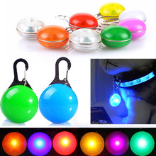 Pet Fascinating LED Collar Light Dog Cat Night Safety Push Button