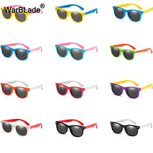 18Color Fashion Children Sunglasses Boys Girls Kids Polarized Sun Glasses TR90 Silicone Safety Glasses Baby Eyewear UV400 Oculos(China)