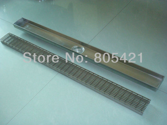 free shipping 304ss linear grate drain