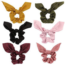 6 PCS Yoga Hair Bands Women or Girls Elastic Force Hair Ties Bow Scrunchies Accessories Velvet Headbands #2J03(China)