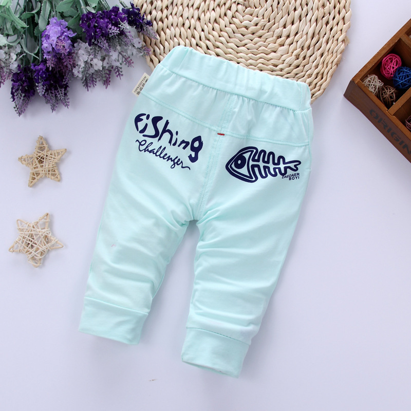 Baby Todder Boy Casual Shorts Infant Boys Cotton Calf-Length Pants Summer Kids Children Elastic Waist Harem Pants For 0-3Y
