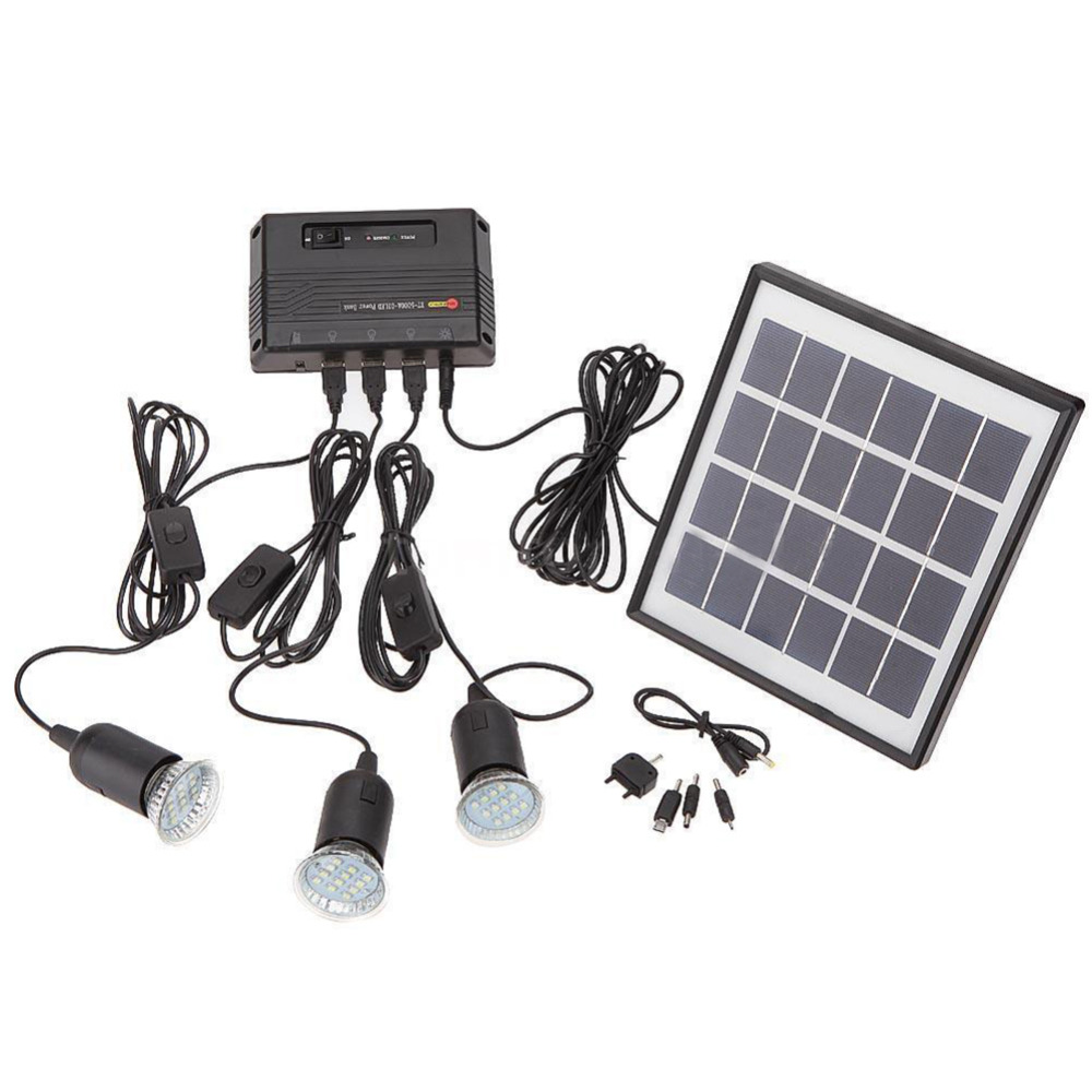 Outdoor Solar Power Panel Led Light Lamp Usb Charger Home