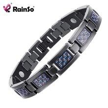 Rainso Bio Energy Health Titanium Bracelet Bangle Red Plated Magnetic Health Care Bracelet For Men Jewelry 2019 Fashion