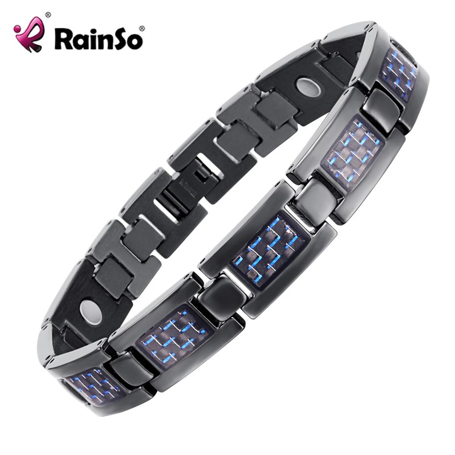 Rainso Bio Energy Zdravlje Titanium Narukvica Narukvica Crvena Plated - Modni nakit - Foto 1