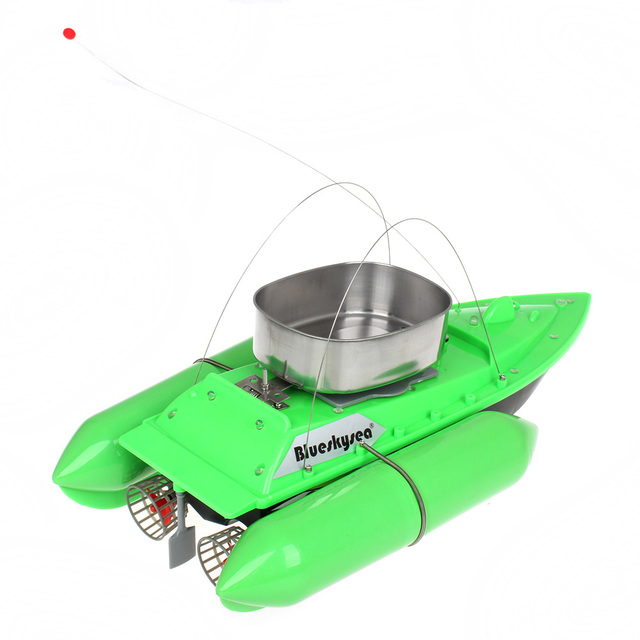 Blueskysea Updated T10 Mini RC Bait Boat Carp Fishing Bait Boat 300M Remote Control Anti Grass Wind 1200G