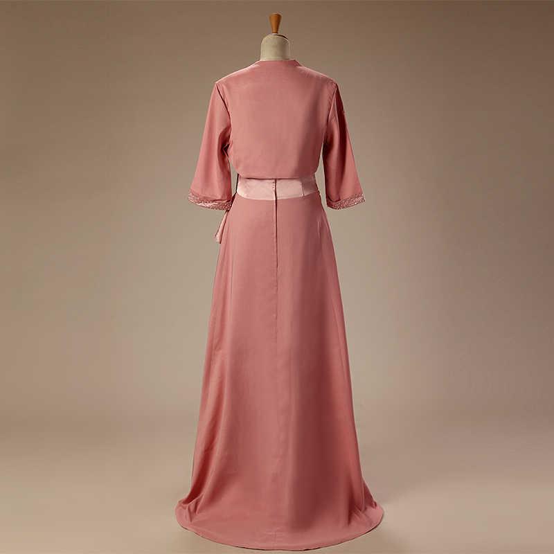 Plus Size Mãe Dos Vestidos de Noiva Com Jaqueta de 2018 Um linha Até O Chão Frisada Vestidos de Casamento Vestido de Festa Para A Mãe De Casamento