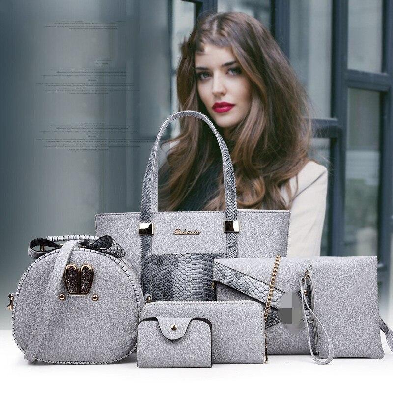 Nieuwe Stijl rits composiet serpentine handtassen vrouwen zacht leer grote mode vrouwelijke messenger bags toevallige grote handtassen-in Top-Handle tassen van Bagage & Tassen op  Groep 1