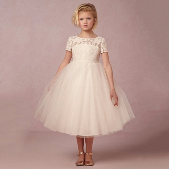 Short Sleeve Flower Girl Dresses