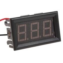 Marka Yeni araç elektroniği Araba Ölçüm Araçları YB27 DC 4.5-30 V Kırmızı LED Ekran Paneli Dijital Voltmetre için Araba /motosik...