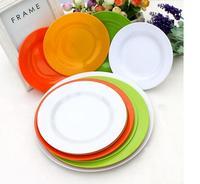 7 inch Melamine Round dinner plate Plastic dishware Round food tray,set of 5
