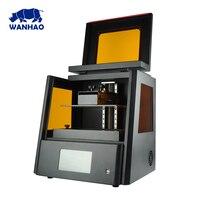 2018 новые WANHAO больше D8 ювелирная смола зубные 3D принтеры, дешевые персональный настольный DLP ЖК дисплей 3D принтеры с 500 мл смолы