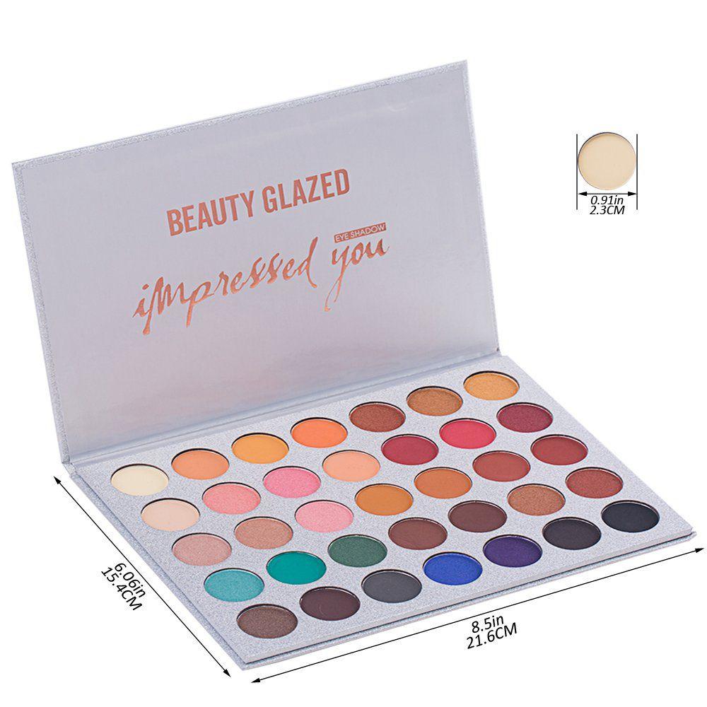 Beauty Glazed Women Fashion Pigmented Glitter Makeup Palette Shimmer 35 colors eye shadow palette Nude Smoky Matte waterproof
