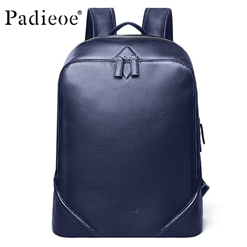 Luxury Simple Design Women Backpack Genuine Cow Leather Business men Backpack High Quality Real Leather Laptop