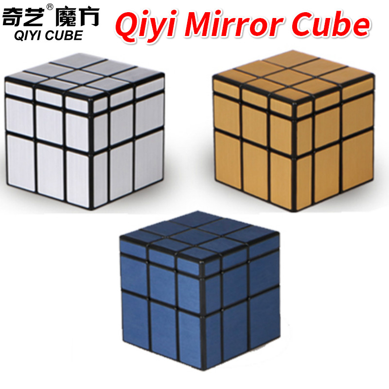 Qiyi Mirror Cube 3x3 Magico Cubes 3x3x3 Speed Cube Puzzle Educational Toys For Children Silver/Golden/Blue Mirror Blocks
