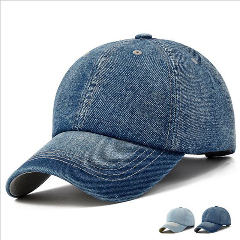 2017 Brand Snapback Men Women Cotton Baseball Cap Jeans Denim Caps Bone Casquette Vintage Sun Hat Gorras Baseball Caps HT51196 baseball cap men snapback casquette brand bone golf 2016 caps hats for men women sun hat visors gorras planas baseball snapback