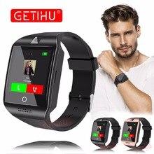Купить GETIHU Q18 DZ09 Смарт-часы Smartwatch Bluetooth цифровой наручные часы Спорт sim-карты телефон с Камера для iPhone, Android samsung