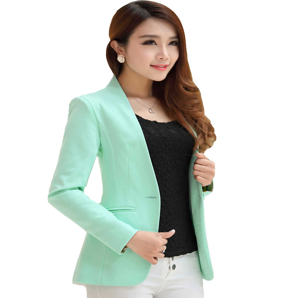a2c1b7f51 ... 2019 Spring Autumn Long sleeve Shrug Women Blazer Candy Color ladies  blazer jacket Suit Jackets women ...