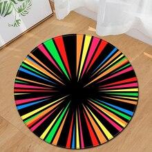 EHOMEBUY ковер круглый ковер коврик в разноцветную полоску домашняя Спальня напольное украшение подушечки Гостиная ковры