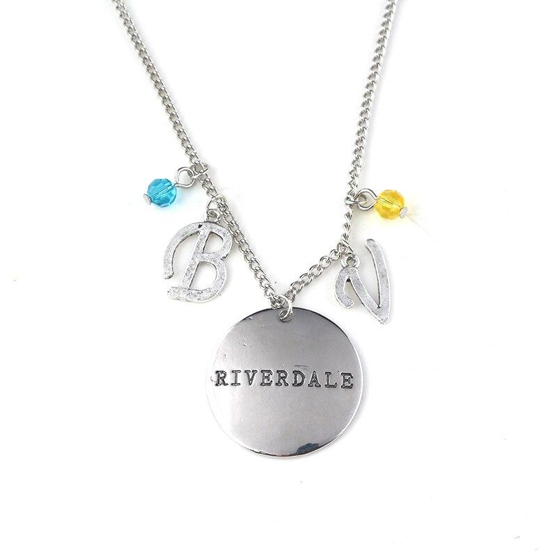 Movie RIVERDALE charm Necklace letter Pendant Zinc Alloy Jewelry Accessories