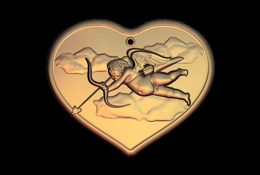 4 шт. Сердце 3D STL модель для фрезерного станка с ЧПУ гравировальный станок рельефа Artcam aspire M48
