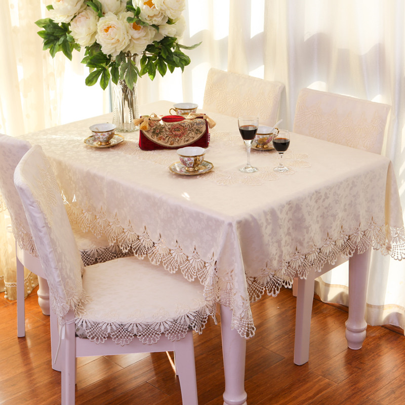 Table Cloth Square Rectangle Oval Tablecloth TV Cover Decorative Hood Satin  Jacquard Lace 55 X 55 145 X 215 150 X 250cm White In Tablecloths From Home  ...