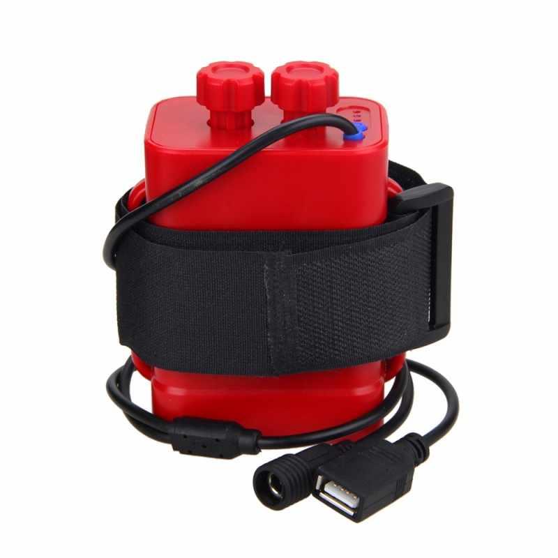 للماء 6x18650 بطارية حزمة مقاومة للماء حالة مربع منزل غطاء ل دراجة ضوء دراجة هاتف محمول