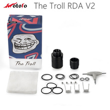 Original Wotofo The Troll RDA V2 Tank 10mm Deeper Deck Reverse Adjustable 510 Pin Electronic Cigarette Atomizer