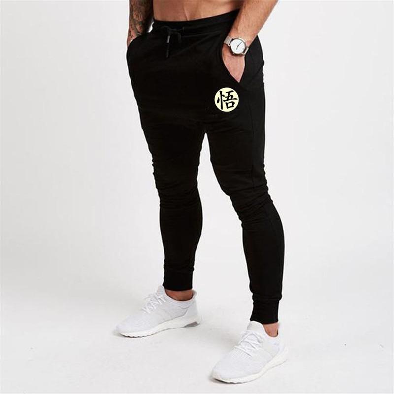 Mens Pants Dragon-Ball-Goku Plus-Size Trouser Print Black Cotton Casual Autumn Gray Funny