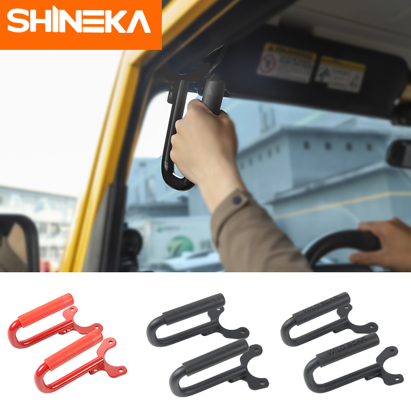 SHINEKA 4x4 Sport Offroad Car Front Grab Handle Metal Roll Bar Kit for Jeep Wrangler TJ