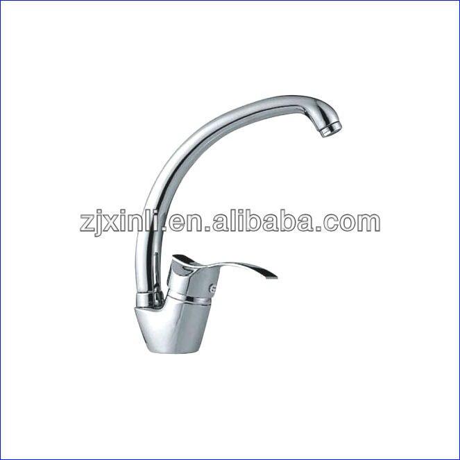 Wholesale Luxury Brass Kitchen Mixer Chrome Finish Kitchen Faucet Deck Mounted Kitchen Tap 10 PCS Lot