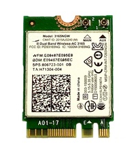 SSEA new for Intel Wireless-AC 3165 3165NGW 802.11AC WIFI Bluetooth 4.0 NGFF card for HP 430 440 450 820 840 G3 SPS 806723-001