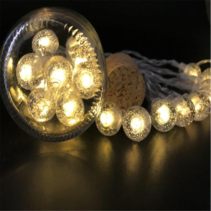 Battery Christmas Lights 10ft 20 Led Light String Crystal Ball