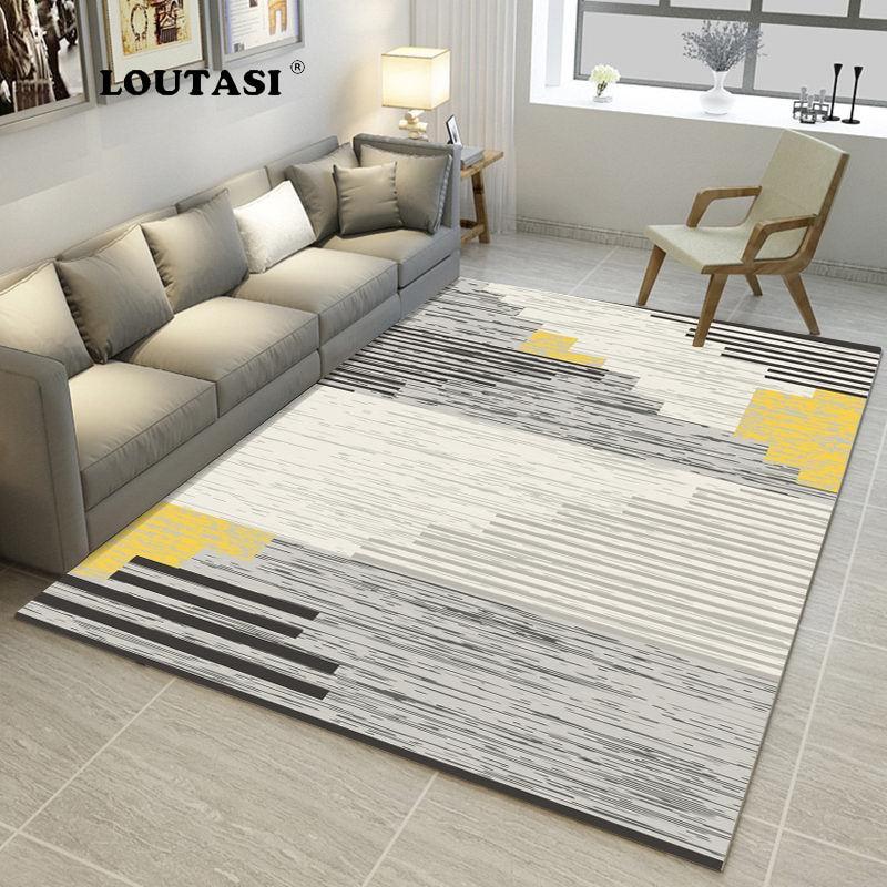 LOUTASI Nordic Style Memory Foam Geometric Mat Area rug Bedroom Rugs Carpet Doormat for Hallway Living