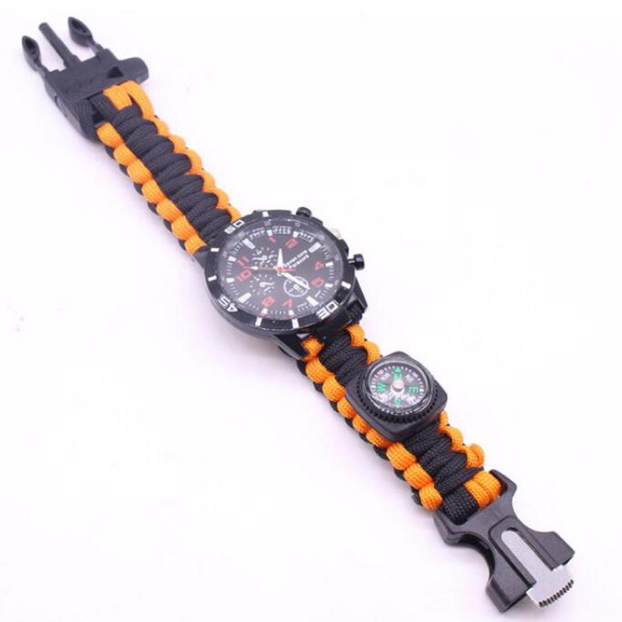 Military Outdoor Paracord Survival Bracelet Compass (5)