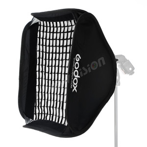 Image 4 - Godox 24*24inch 60 * 60cm Honeycomb Grid Softbox + S type Bracket Mount Bowens Mount Kit for Canon Nikon Speedlite Flash Softbox