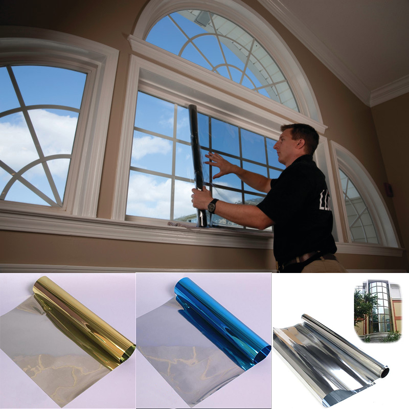 1mx30cm one way solar reflective mirror insulation window film tint self ahesive privacy glass sticker home