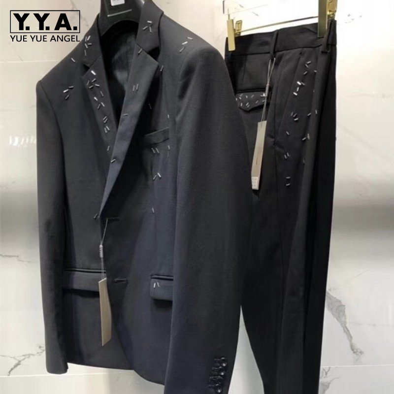 Fashion 2019 Autumn Winter Italy Latest Designer Slim Fit Business Casual Men Suits 2 Piece Sets Blazer And Pants Brand Clothing