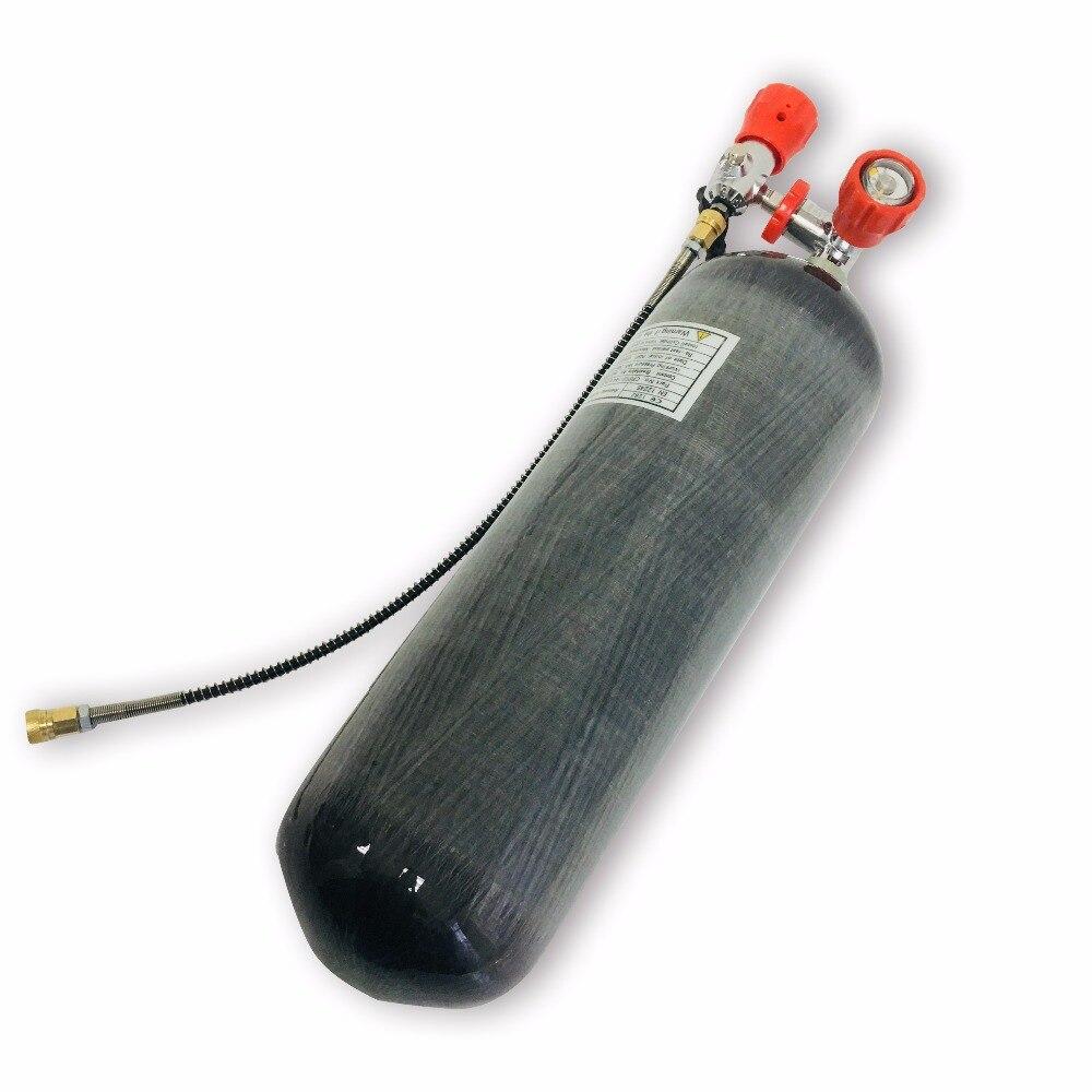 Акция Горячая винтовка PCP 6.8L 300bar 4500psi углерода волокно цилиндр давление воздуха бак для пейнтбола и клапан заполнить станции для продажи