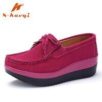 4b48b155b NKAVQI Women Flats Suede Leather Loafers Female Slip On Fringe Platform  Shoes Women Casual Shoes Spring. NKAVQI Mulheres Apartamentos Mocassins de  Couro ...